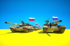 Conflit de Ucrania del ruso Fotos de archivo libres de regalías