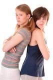 Conflit entre deux amis Image libre de droits