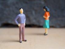 Conflit entre l'homme et le femme Photographie stock libre de droits