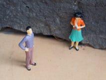 Conflit entre l'homme et le femme Photographie stock