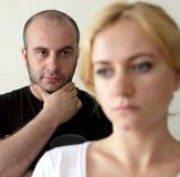 Conflit entre l'homme et le femme photo libre de droits