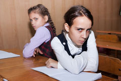 Conflit entre les écolières Photographie stock libre de droits