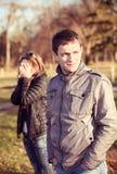 Conflit et tension émotive dans de jeunes couples Photo libre de droits