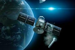 Conflit satellite illustration de vecteur