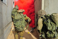 Conflito armado do israelita Foto de Stock