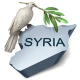 Conflito da crise de Síria Imagem de Stock Royalty Free