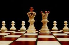 Conflito da xadrez fotografia de stock royalty free
