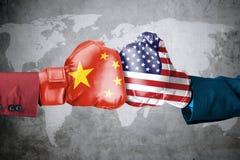 Conflito de China com EUA ilustração royalty free