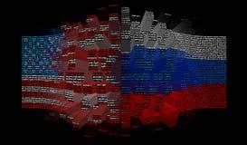 Conflito do Estados Unidos e da Rússia Fotografia de Stock Royalty Free