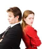 Conflito do homem e da mulher Foto de Stock Royalty Free