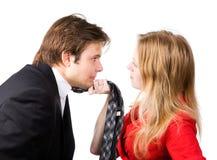 Conflito do homem e da mulher Imagem de Stock Royalty Free