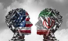 Conflito do míssil de Irã E.U. ilustração stock
