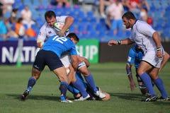 Conflito do rugby Imagem de Stock
