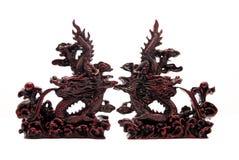Conflito dos dragões fotografia de stock