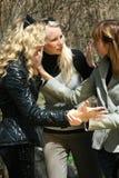 Conflito entre meninas Fotografia de Stock Royalty Free