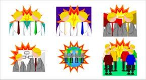 Conflito social Imagens de Stock Royalty Free
