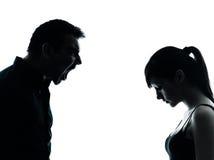 Conflitto di disputa della figlia del padre Fotografia Stock