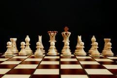 Conflitto di scacchi Fotografia Stock