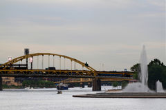 Confluence of Allegheny and Monongahela to Ohio River Royalty Free Stock Images