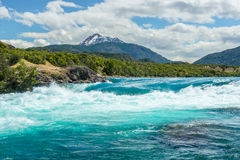 Confluence of Baker river and Neff river, Chile Stock Photography