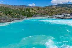 Confluence of Baker river and Neff river, Chile Stock Images