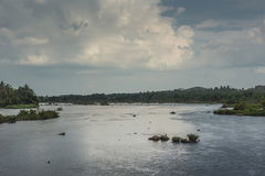 Confluence of Cauvery River in Mysore, India. Royalty Free Stock Photos
