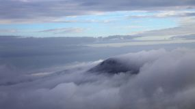 Clouds Covered Mountain Ranges stock images