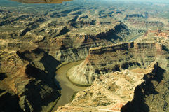 Confluence of green river and colorado river stock photography
