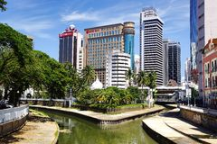 Confluence of the Klang and Gombak River. Royalty Free Stock Photography