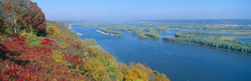 Confluence Of Mississippi And Wisconsin Rivers Royalty Free Stock Photography