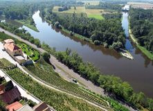 Free Confluence Of Rivers Elbe And Vltava Royalty Free Stock Image - 13659816