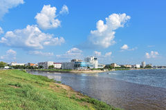 The confluence of Om and Irtysh rivers in Omsk, Russia Stock Images