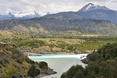 Confluence of the river Baker And Nef. In the chilean patagonia Stock Photography