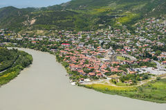 Confluence of the rivers Kura and Aragvi, Mtskheta, Georgia Royalty Free Stock Photography
