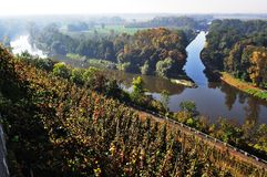 Confluence of the Vltava and Elbe. Melnik Stock Images