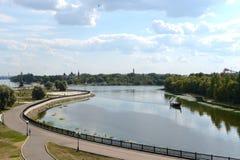 The confluence of the Volga and Kotorosl in Yaroslavl Royalty Free Stock Photo