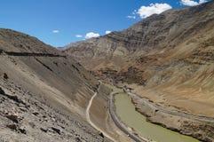 Confluence of Zanskar and Indus rivers - Leh, Ladakh, India. Confluence of Zanskar and Indus rivers - Leh, Ladakh,Northern India Royalty Free Stock Photo