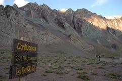 Confluencia Anderna berg, Argentina Royaltyfri Foto