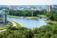 Confluencia de los ríos de Oka y de Orlik Imagen de archivo libre de regalías