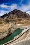 Confluencia de ríos Fotos de archivo