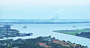 Confluencia del agua en Tampa, la Florida fotos de archivo libres de regalías