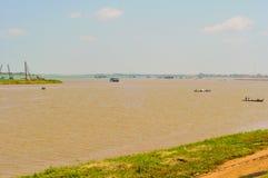 Confluenza del Mekong Fotografia Stock