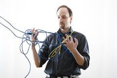 Confondez le technicien Image libre de droits