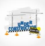 Conforme a la página de la construcción para el sitio web Foto de archivo libre de regalías