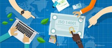 Conformidad ambiental del estándar de la certificación del sistema de gestión del ISO 14001 libre illustration