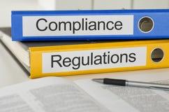 Conformidad y regulaciones Fotos de archivo