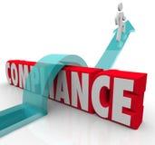 Conformidade Person Jumping Rules Regulations Fotografia de Stock