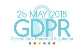 A conformidade regulamentar ou a lei da proteção de dados geral GDPR são ano do 25 de maio de 2018 Fotografia de Stock