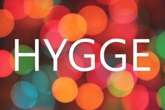 Confort danois de signification de mot de Hygge-, commodité, cosiness illustration libre de droits