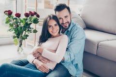 Confort romantique d'agrément Beau heureux smili enthousiaste gai Photo stock